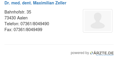 Dr med dent maximilian zeller 578695