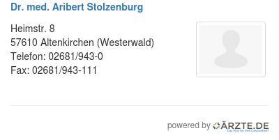Dr med aribert stolzenburg