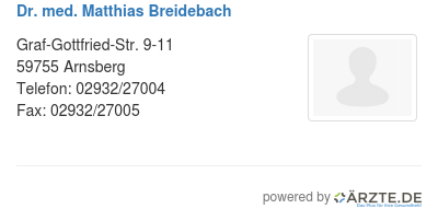 Dr med matthias breidebach