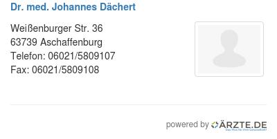Dr med johannes daechert 579862