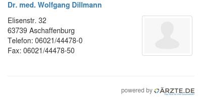 Dr Dillmann Aschaffenburg