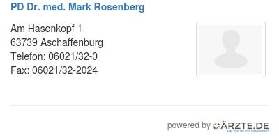 Pd dr med mark rosenberg