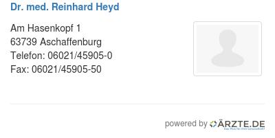 Dr med reinhard heyd 580083