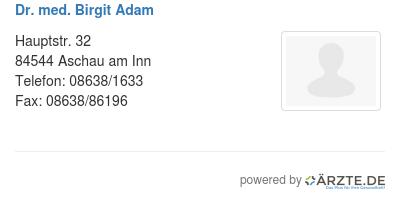 Dr med birgit adam 528663