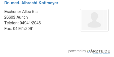 Dr med albrecht kottmeyer