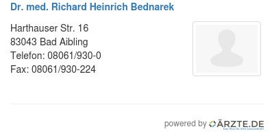 Dr med richard heinrich bednarek