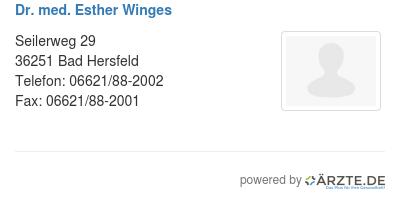 Dr med esther winges 529246
