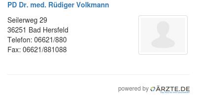 Pd dr med ruediger volkmann