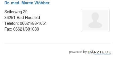 Dr med maren woebber