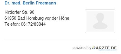 Dr med berlin freemann