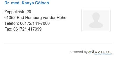 Dr med kanya goetsch 580657