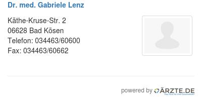 Dr med gabriele lenz 528752