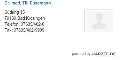 Dr med till eusemann