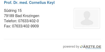 Prof dr med cornelius keyl
