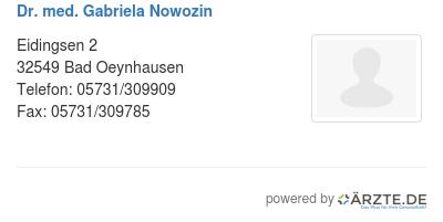 Dr med gabriela nowozin 579670