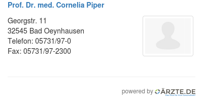 Prof dr med cornelia piper
