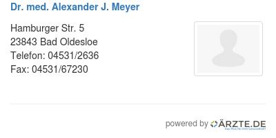 dr med alexander j meyer in 23843 bad oldesloe fa f r. Black Bedroom Furniture Sets. Home Design Ideas