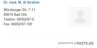 Dr med m al ibrahim