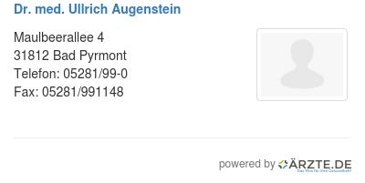 Dr med ullrich augenstein