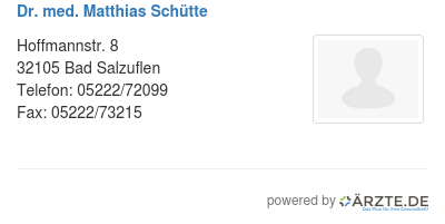 Dr med matthias schuette 579158