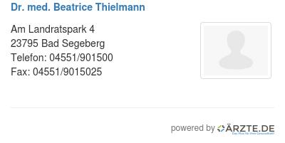 Dr med beatrice thielmann