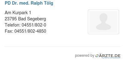 Pd dr med ralph toelg 579166