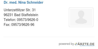 Dr med nina schneider 530531