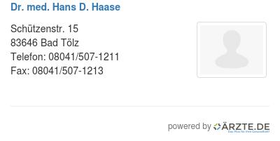 Dr med hans d haase 535057