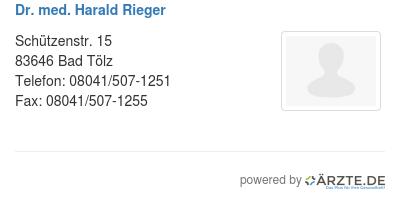 Dr med harald rieger 279934