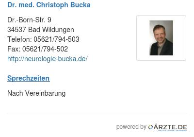 Dr med christoph bucka 257748