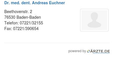 Dr med dent andreas euchner 528560