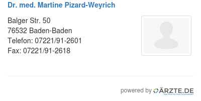 Dr med martine pizard weyrich