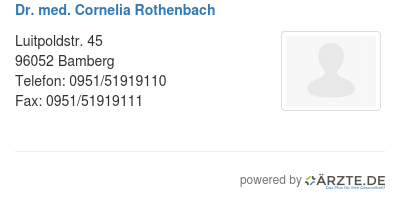 Dr med cornelia rothenbach