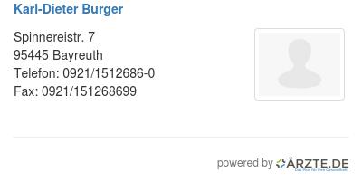 Karl dieter burger