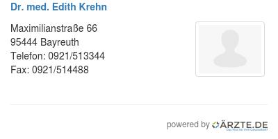Dr med edith krehn 579587
