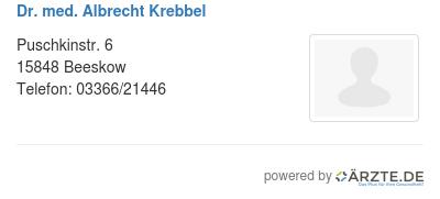 Dr med albrecht krebbel