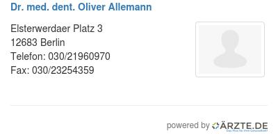 Dr med dent oliver allemann