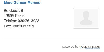Marc gunnar marcus