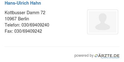 Hans ulrich hahn