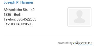Joseph p harmon