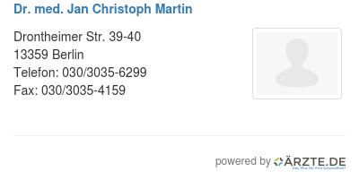 Dr med jan christoph martin 580662