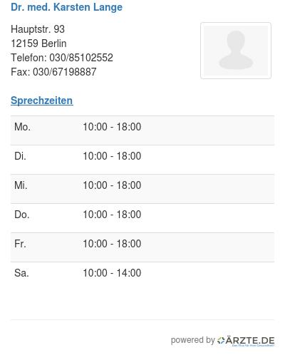 Karsten Lange dr med karsten lange in 12159 berlin fa für chirurgie aerzte