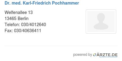 Dr med karl friedrich pochhammer