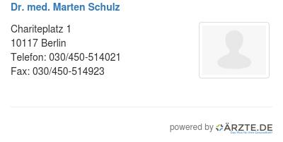 Dr med marten schulz 579198