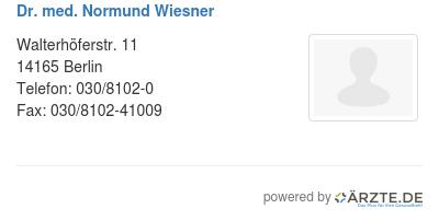 Dr med normund wiesner