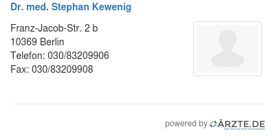 Dr med stephan kewenig 580957