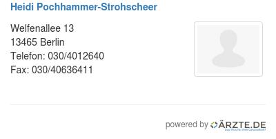 Heidi pochhammer strohscheer