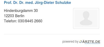 Prof dr dr med joerg dieter schulzke