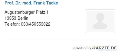 Prof dr med frank tacke 579189