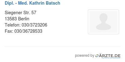 Dipl med kathrin batsch